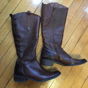 Matisse tall leather zip up button boots
